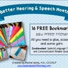 Better Hearing and Speech Month (BHSM) Bookmarks! FREE