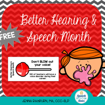 Better Hearing and Speech Month: Blow Pop tags for Teachers