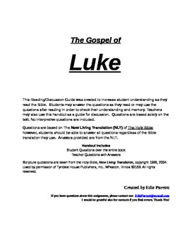 Bible Study: The Gospel of Luke