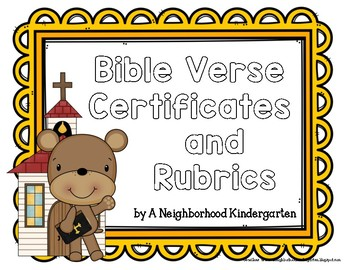 Bible Verse Rubric / Certificates