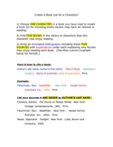 Bibliography Practice - Create a Book List for ANY Character!