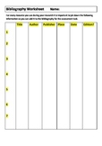 Bibliography creation data sheet