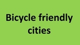 Bicycle friendly cities