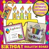 Big Birthday Bear Bulletin Board Set Plus Bookmarks/Certificates