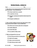 Big Bushy Mustache ~ Reading Comprehension/Vocabulary Test/Quiz