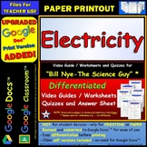 Bill Nye - Electricity – Worksheet, Answer Sheet, and Two