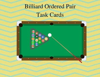 Billiard Ordered Pair Task Cards