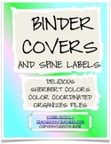 Binder Covers and Spine Labels in Delicious Sherbet Colors