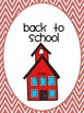 Binder covers for organizing lessons (chevron)