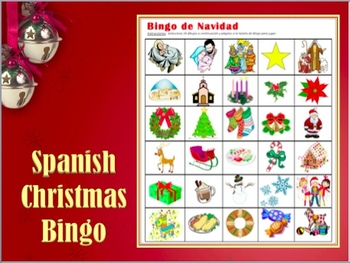 Spanish Christmas Bingo by Anne Karakash