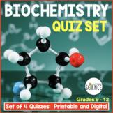 Biochemistry Quizzes Set of 2 Chemistry of Biology Organic