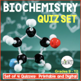 Biochemistry Quizzes Set of 2 Chemistry of Biology Organic