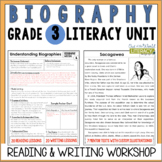 Biography Reading & Writing Unit Grade 3: 40 Detailed Less