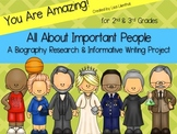 Biography Report ~ Informational Writing & Research {Common Core}