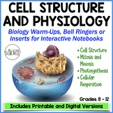 NO PREP Biology Interactive Notebooks and  Warm Ups  Cell