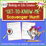 Biology Scavenger Hunt for Back to School