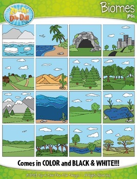 Biomes / Ecosystems Clip Art Set — Over 30 Graphics!