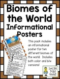 Biomes of the World ~ Set of 10 Informational Posters (Col