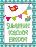Bird Theme Substitute Binder