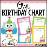 Birthday Owl Chart {Editable}
