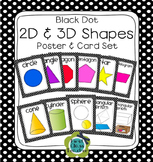 Black Dot Plane & Solid Shapes Poster Set (Math Geometry)