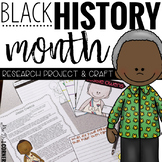 Black History Month Biography Research and Craftivity  Bio