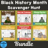 Black History Month Scavenger Hunt Bundle
