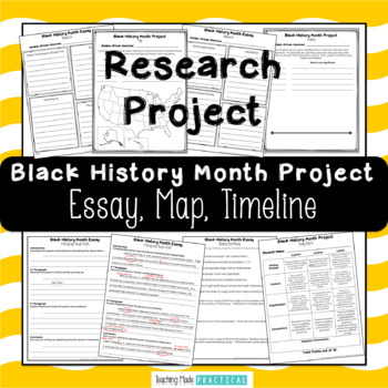 Black History Month Project: Essay, Map, and Timeline
