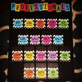 Black and Bold Job Chart (Professionals)