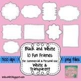Black and White Frames Clip Art Pack