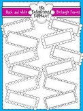 Black and White Rectangle Frames Clip Art