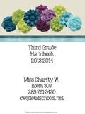 Black and White Theme Classroom Parent Handbook