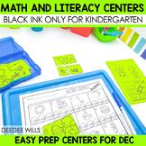 Black ink ONLY for December
