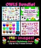Owls Clip Art Graphics Bundle for Commercial Use