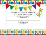 Editable Blank Colorful Student Award
