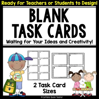 Blank Squiggle Task Cards for All subjects!