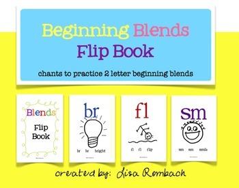 Blends Flip Book chants to practice beginning blends