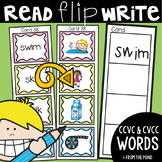 Blends - Read Flip Write Activity Cards - ccvc and cvcc