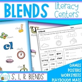 Blends - Literacy Centers, posters and worksheets