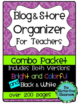 Blog & Store Organizer / Planner for Teachers (Teacherpren