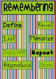 Bloom's Taxonomy - Keywords for Kindergarten