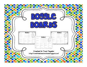 Boggle Board Recording Sheets