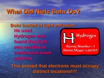 Bohr Model Presentation (energy levels shells valence)