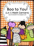 Boo to You! Halloween Math and Literacy Center Pack