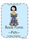 Book Form - Pets