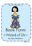 Book Form - Wizard of Oz Characters