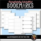 Bookmark Templates WORD Printables Reading