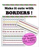 Borders - Make it cute! - Add color w/o killing a whole in