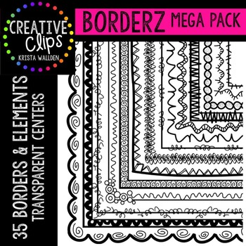 Borderz MEGA Pack {Creative Clips Digital Clipart}