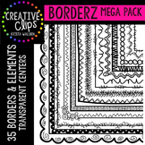 Borderz MEGA Pack {Creative Clips Digital Clipart}
